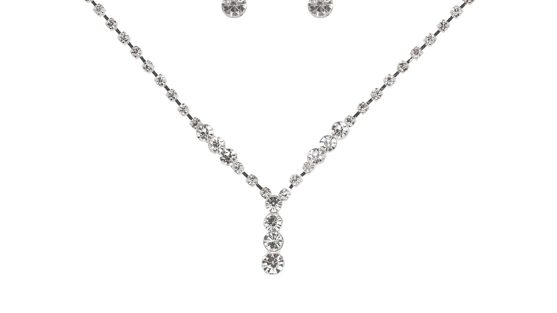 Brautschmuckset mit Halskette und Ohrringe 5587