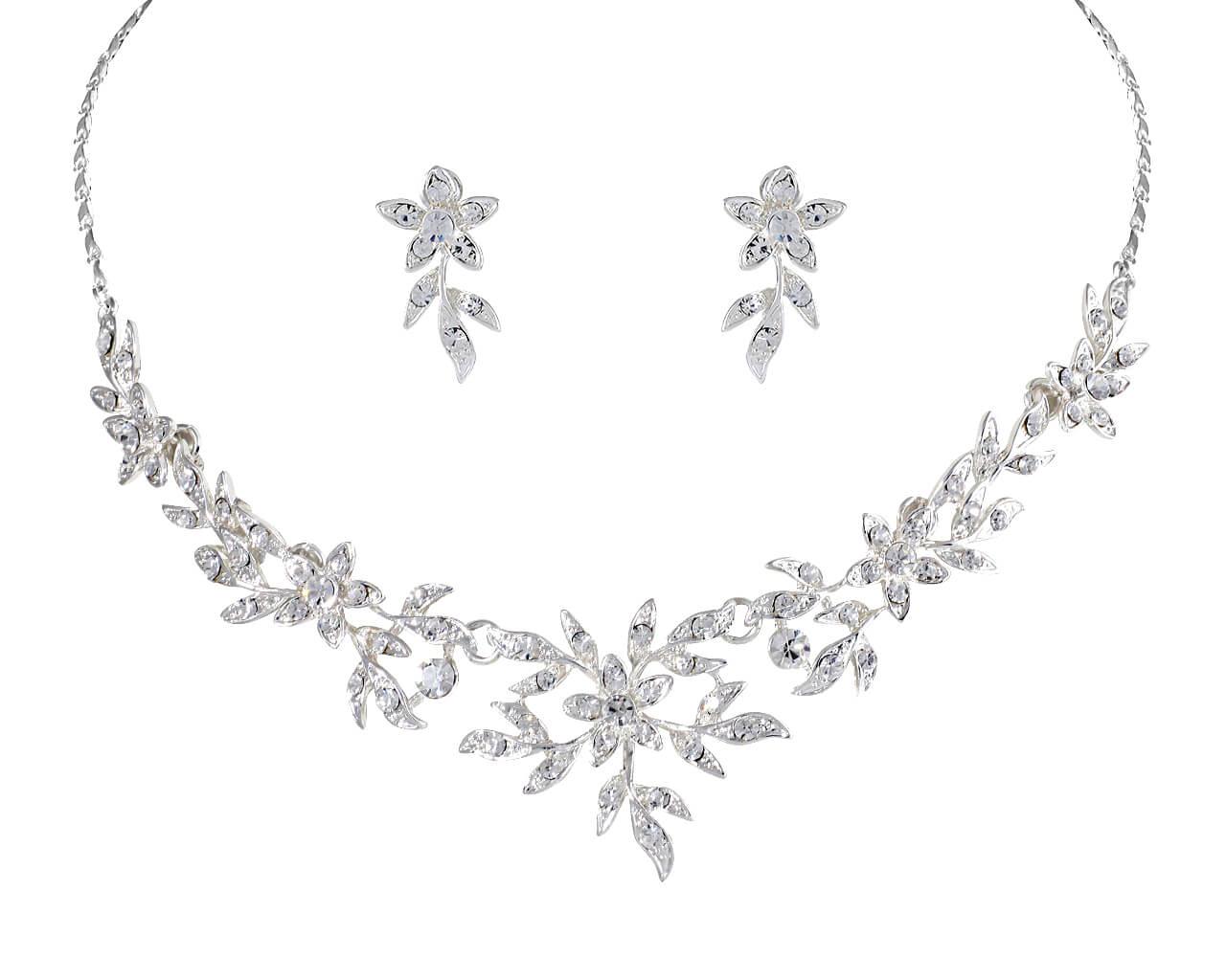 Brautschmuckset mit Halskette und Ohrringe NS1-5817