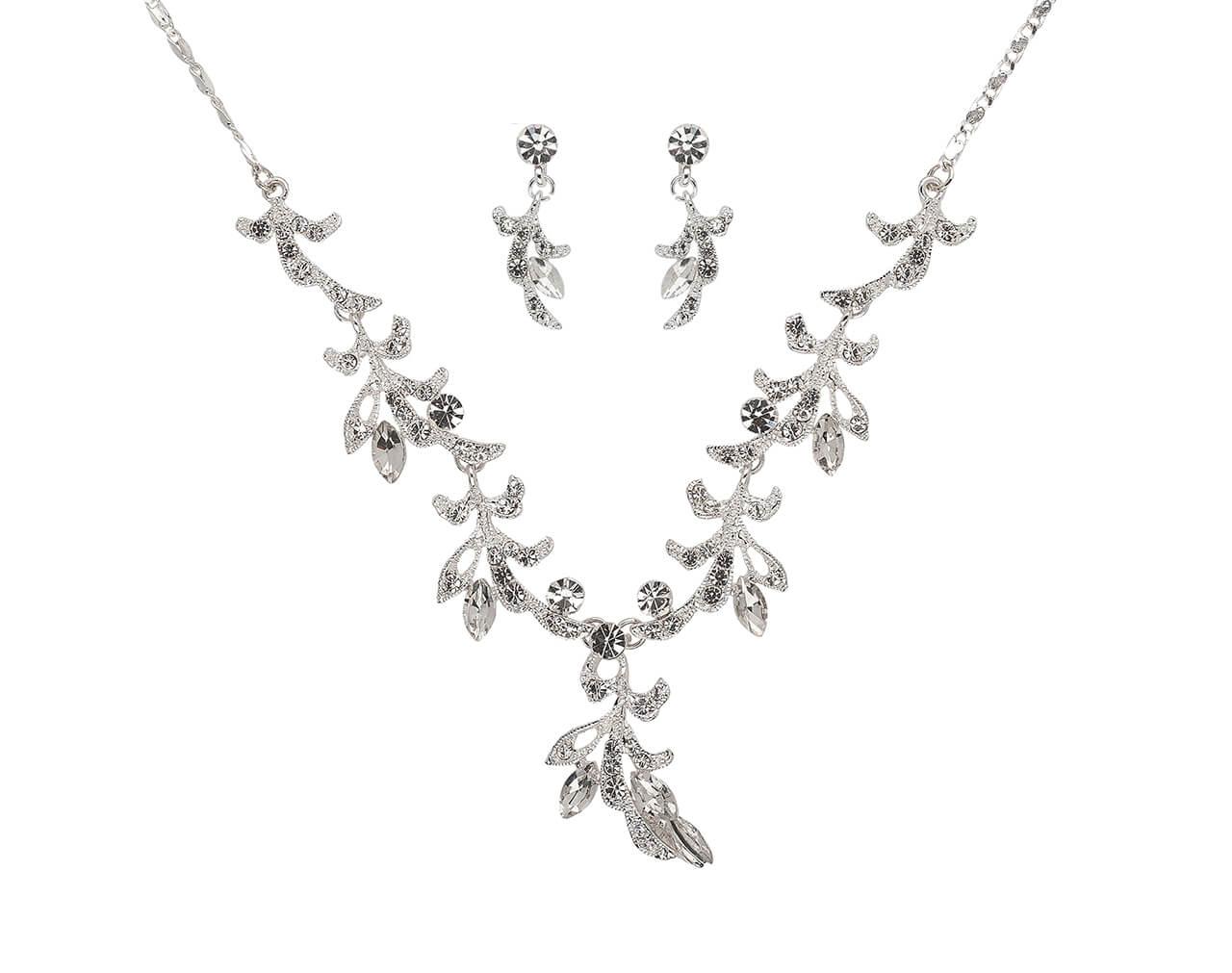 Brautschmuckset mit Halskette und Ohrringe NS1-5932