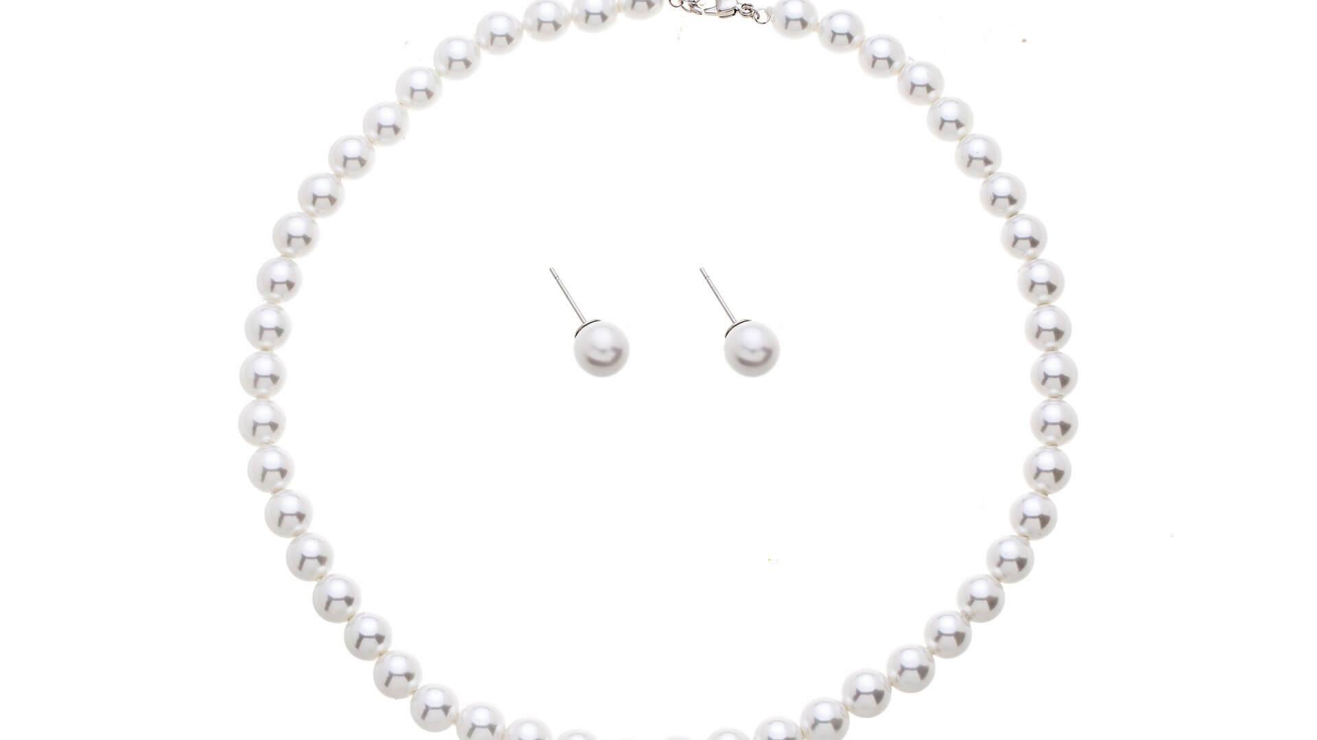 Brautschmuckset mit Halskette und Ohrringe PNL1