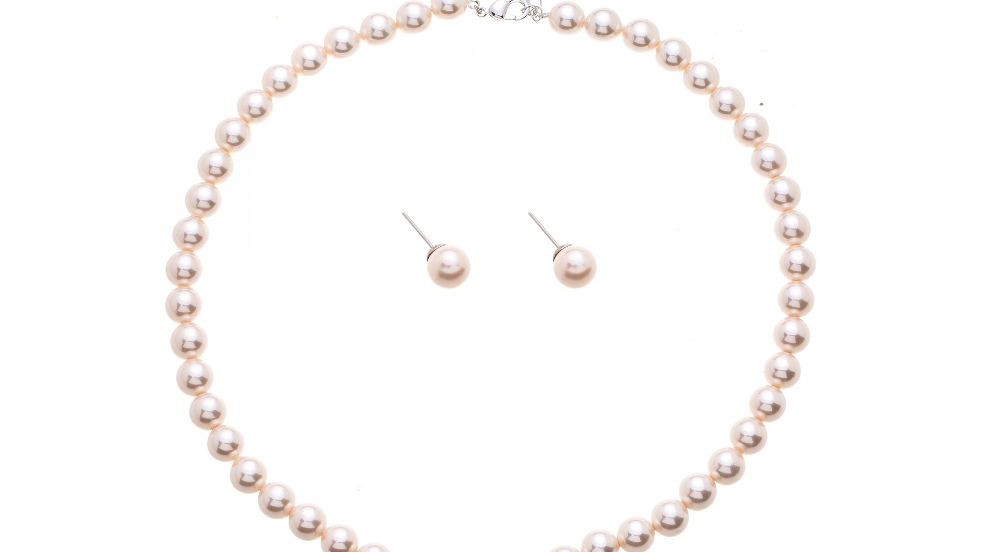 Brautschmuckset mit Halskette und Ohrringe Blush PNL2